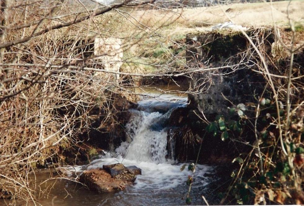 Janvier 1992, le bief amont.