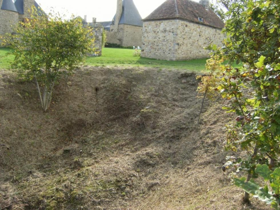 13 octobre 2009, effet de l'érosion sur l'Ouest de la douve Nord.
