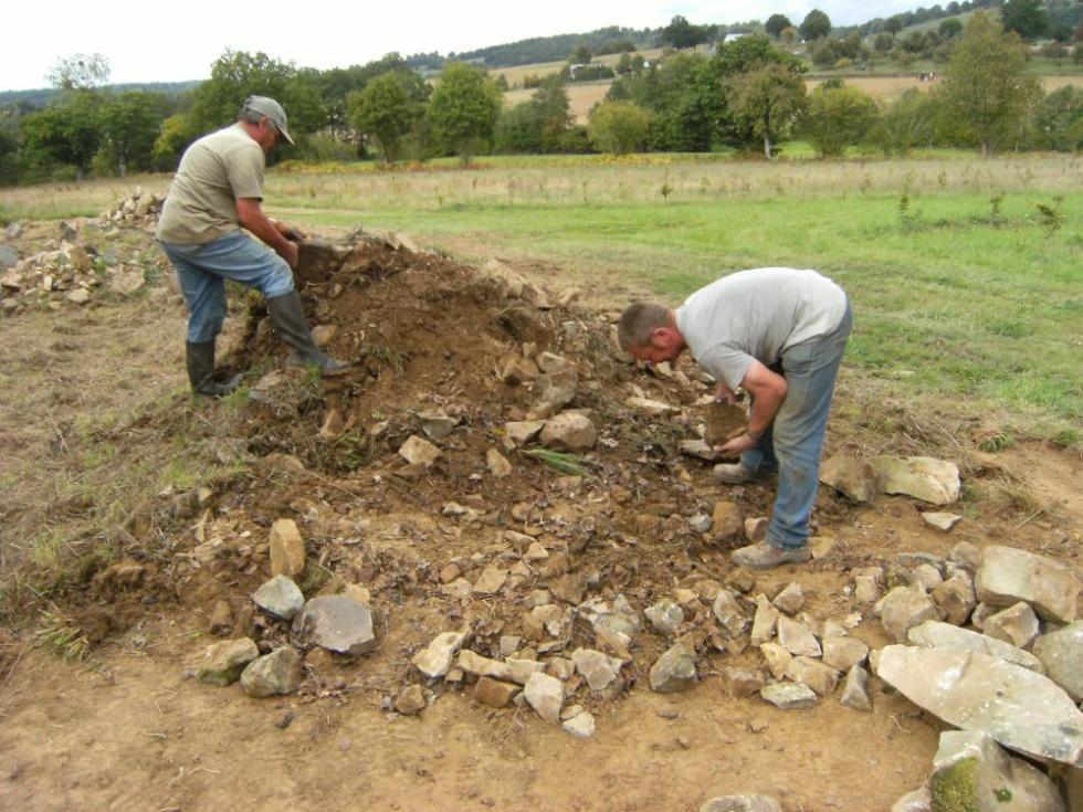 Jeudi 30 septembre 2010, Pascal et Bernard au travail.