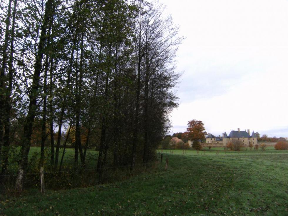 """7 novembre 2010, le canal d'alimentation à la hauteur du """"champ de Mauduit""""."""
