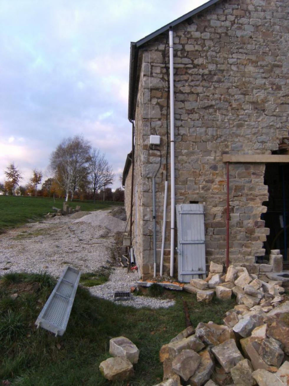 26 novembre 2010, vue des sablières Ouest de la ferme.