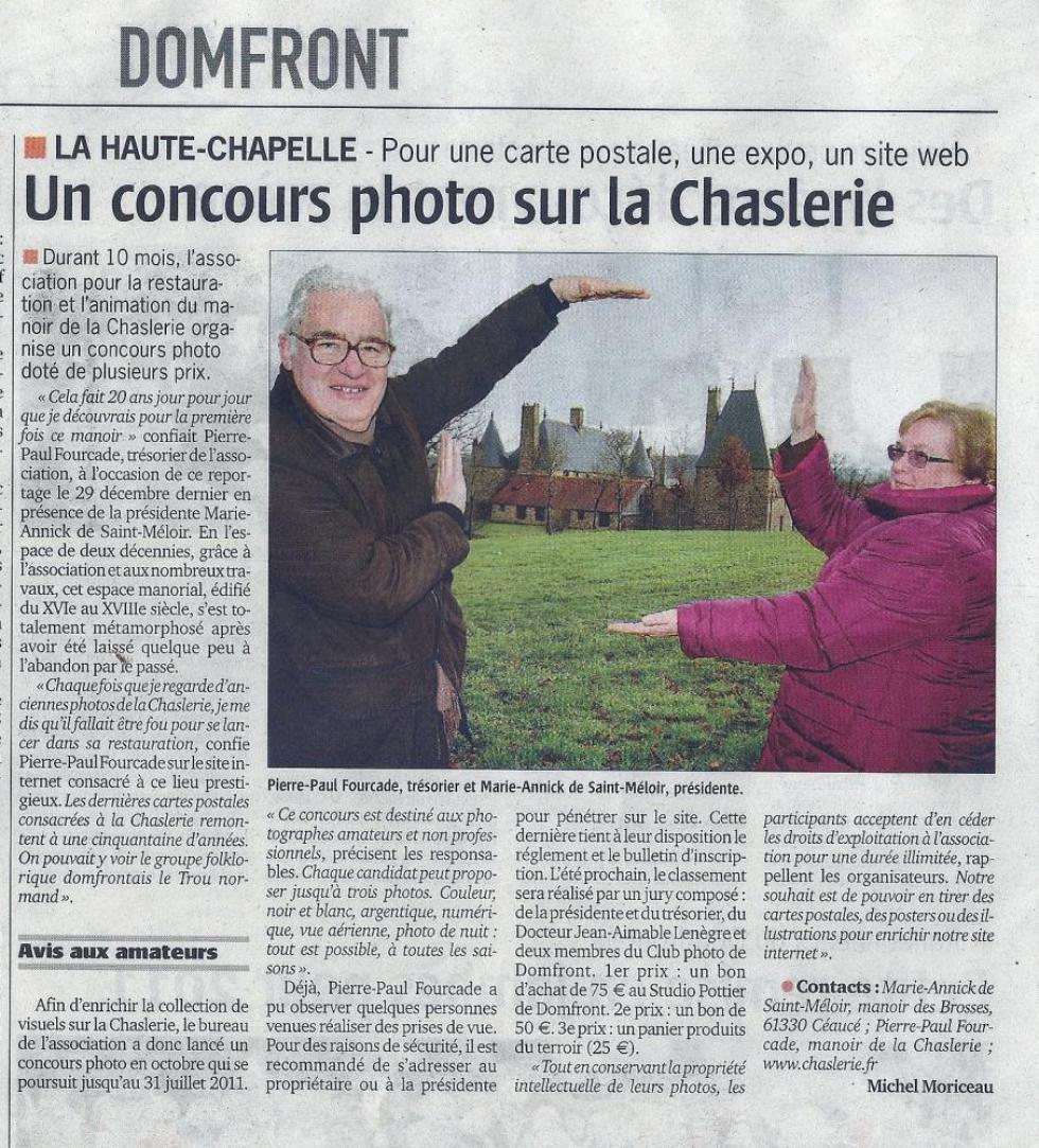 """6 janvier 2011, article du """"Publicateur libre""""."""