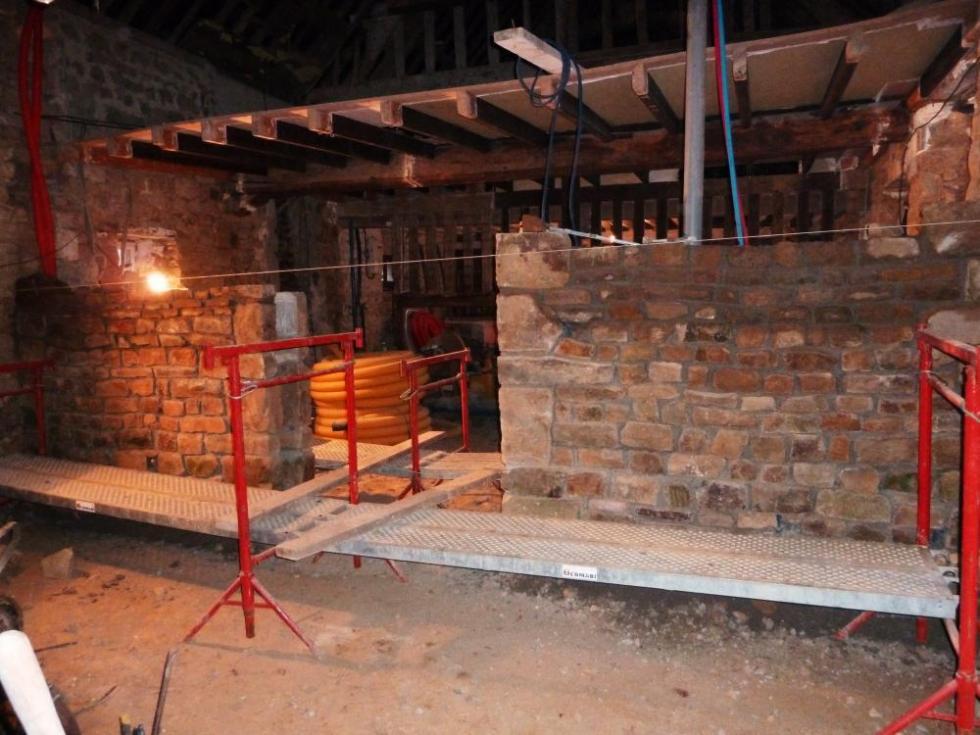 12 janvier 2011, le mur de refend de la ferme.