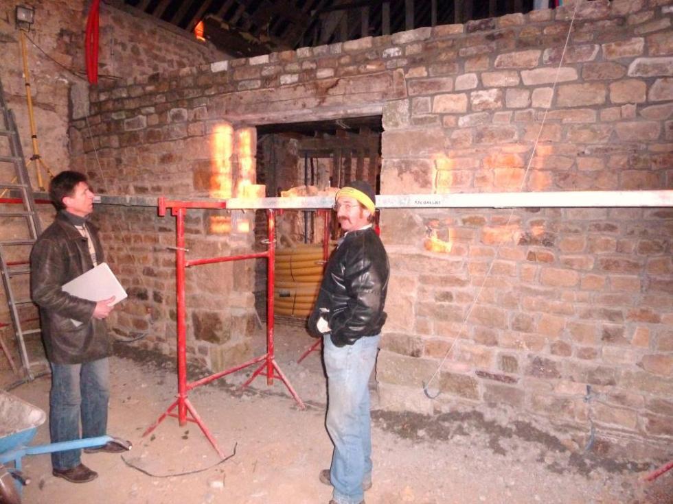 29 janvier 2011, réunion de chantier avec M. DUVEAU et Pascal.