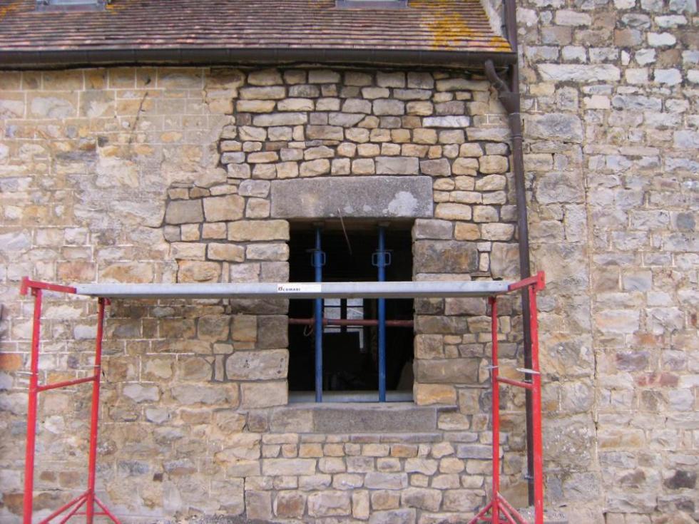 17 mars 2011, la seconde fenêtre de la façade Ouest de la ferme.