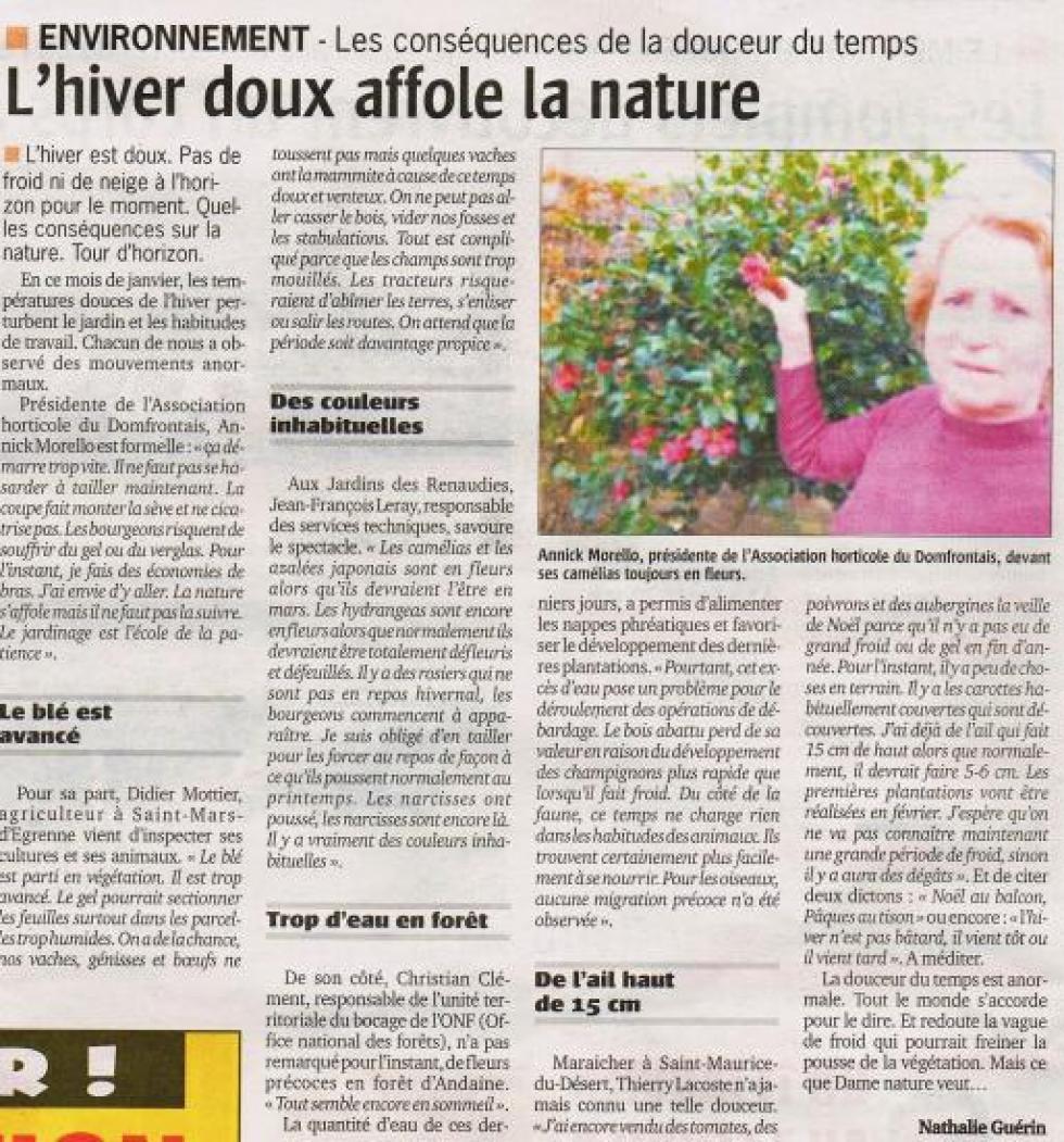 """Article paru dans le """"Publicateur Libre"""" du 12 janvier 2012."""