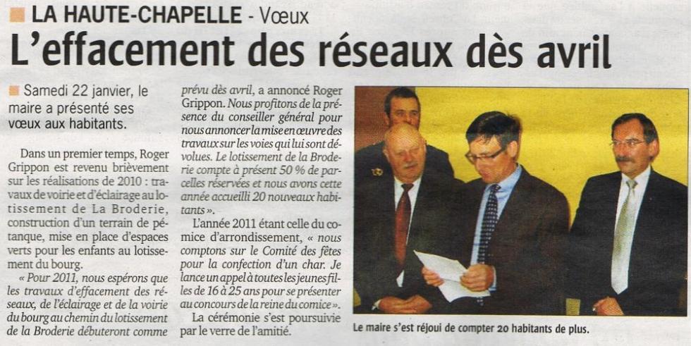 """2ème extrait du numéro du 27 janvier 2011 du """"Publicateur libre""""."""
