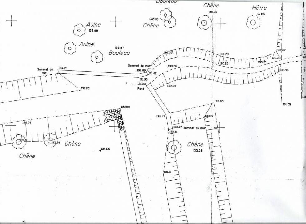 Janvier 1992, le plan du bief aval.