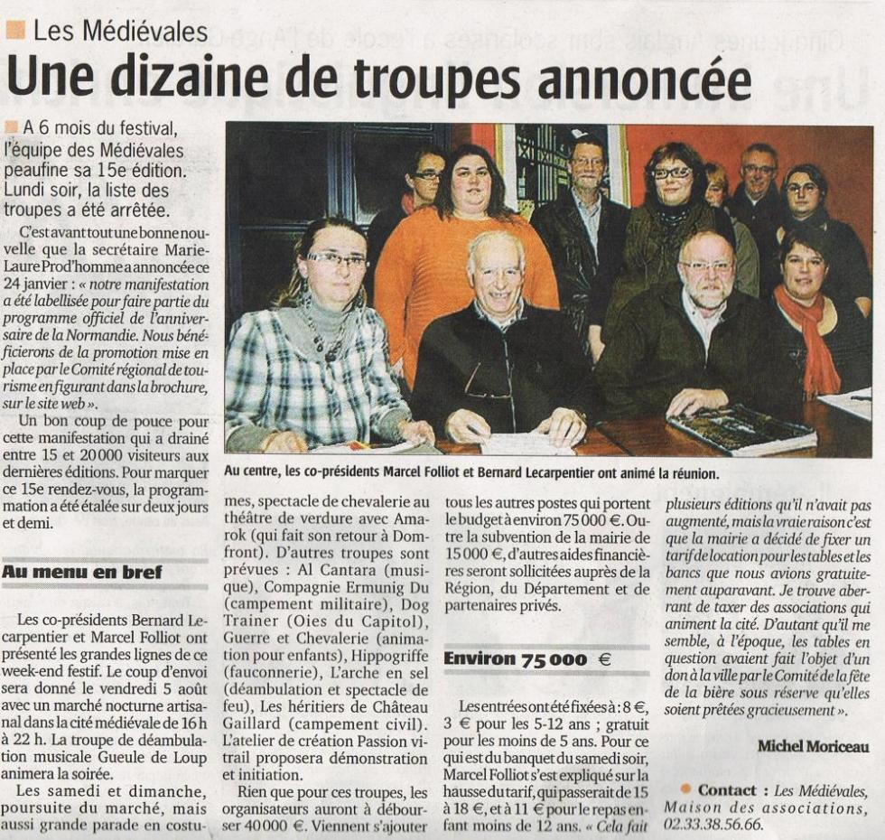 """3ème extrait du numéro du 27 janvier 2011 du """"Publicateur libre""""."""