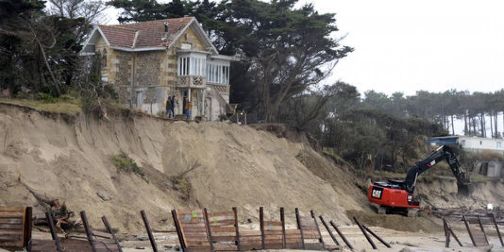 6 janvier 2014, la maison de l'Amélie à Soulac-sur-mer.