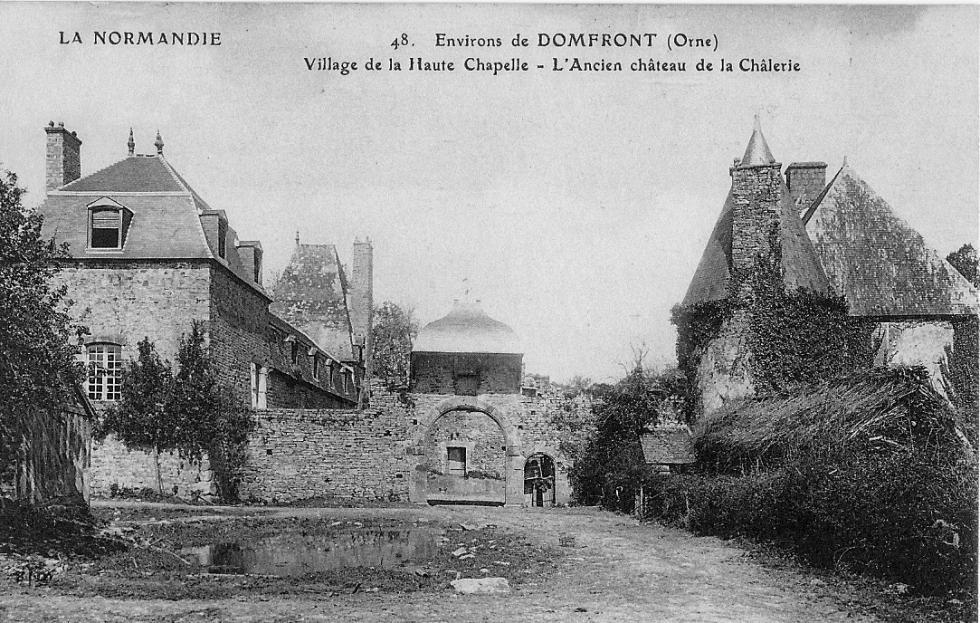 L'ancienne mare, devant la Chaslerie, vers 1920