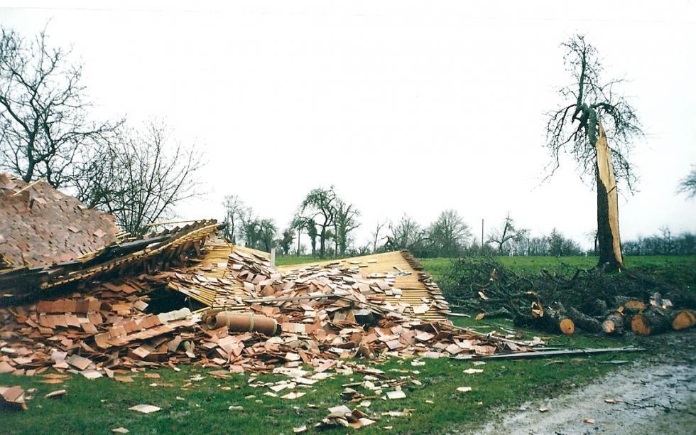 Tempête de 1999: la grange n'est plus qu'un beau rêve, les tracteurs sont restés dessous