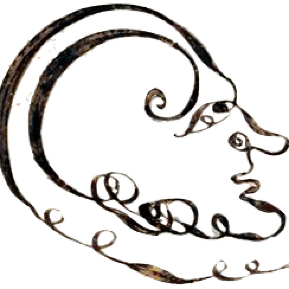 Lettrine apparaissant sur l'expédition sur vélin d'un acte notarié rouennais de 1728. Logo et collection personnelle de Jean-François VIEL.