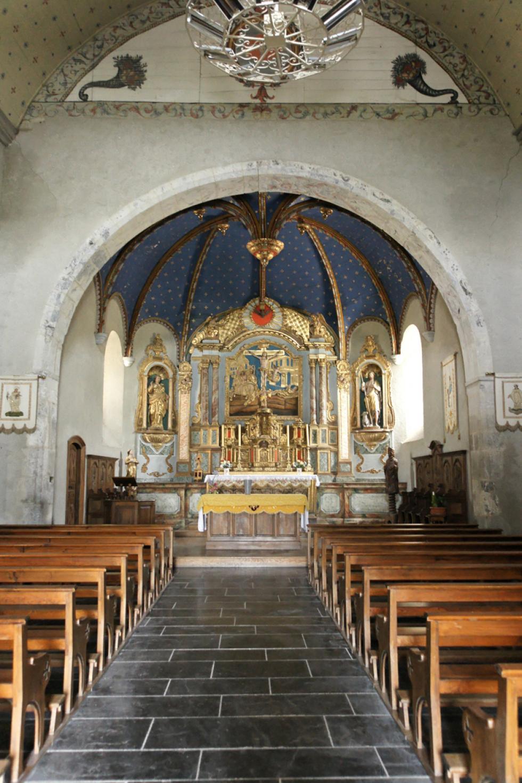 Eglise d'Aucun, collection personnelle.