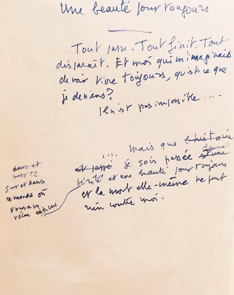 Les derniers mots écrits par Jean d'Ormesson.