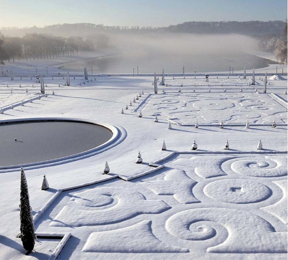 Versailles sous la neige.