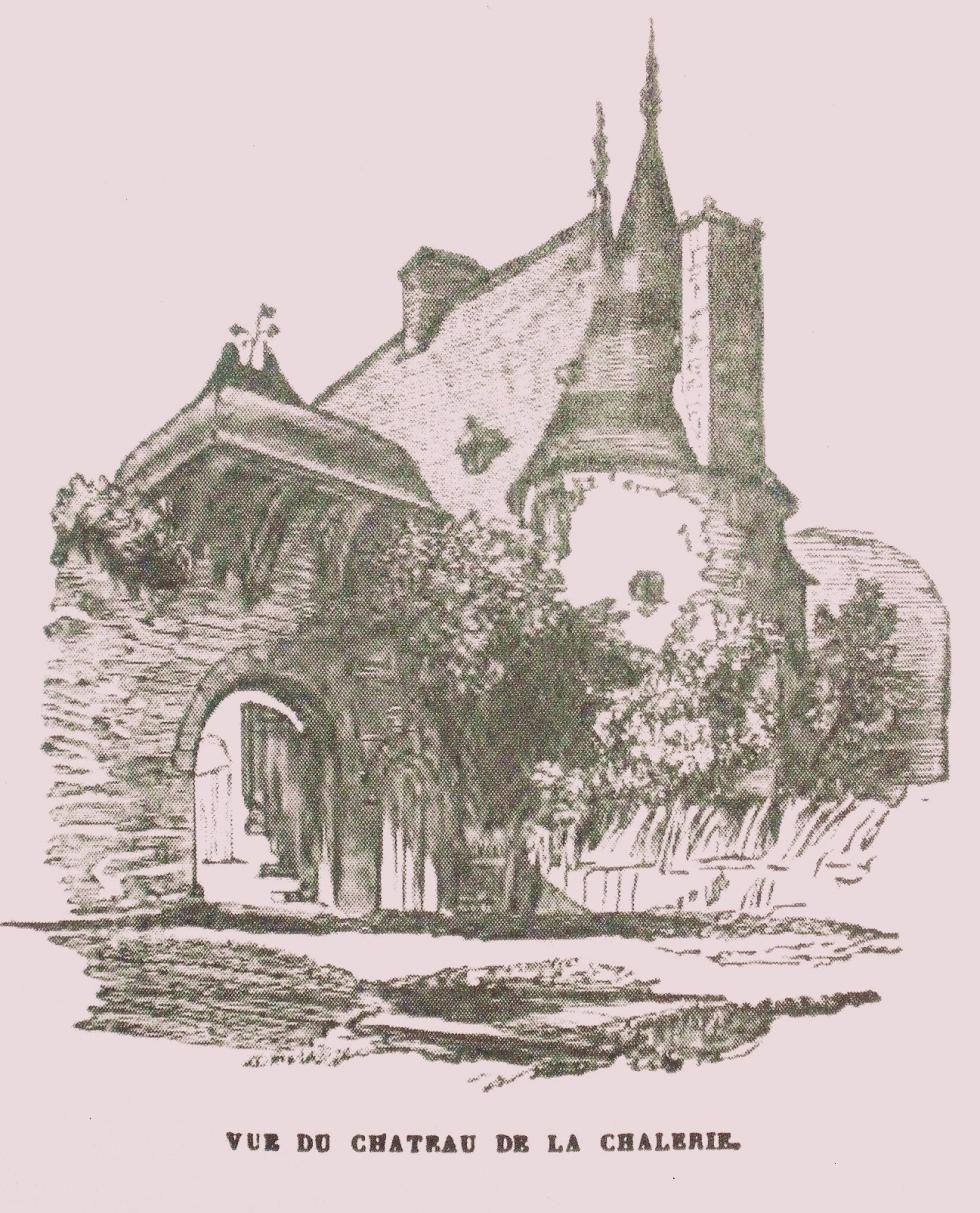 Le logis de la Chaslerie en 1852, donc avant l'incendie de 1884.