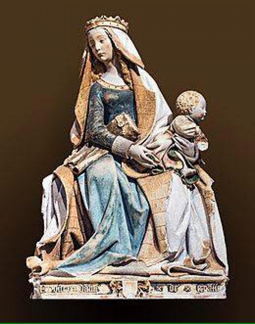 """La Vierge à l'Enfant du musée des Augustins de Toulouse, également nommée """"Nostre Dame de Grasse """"."""