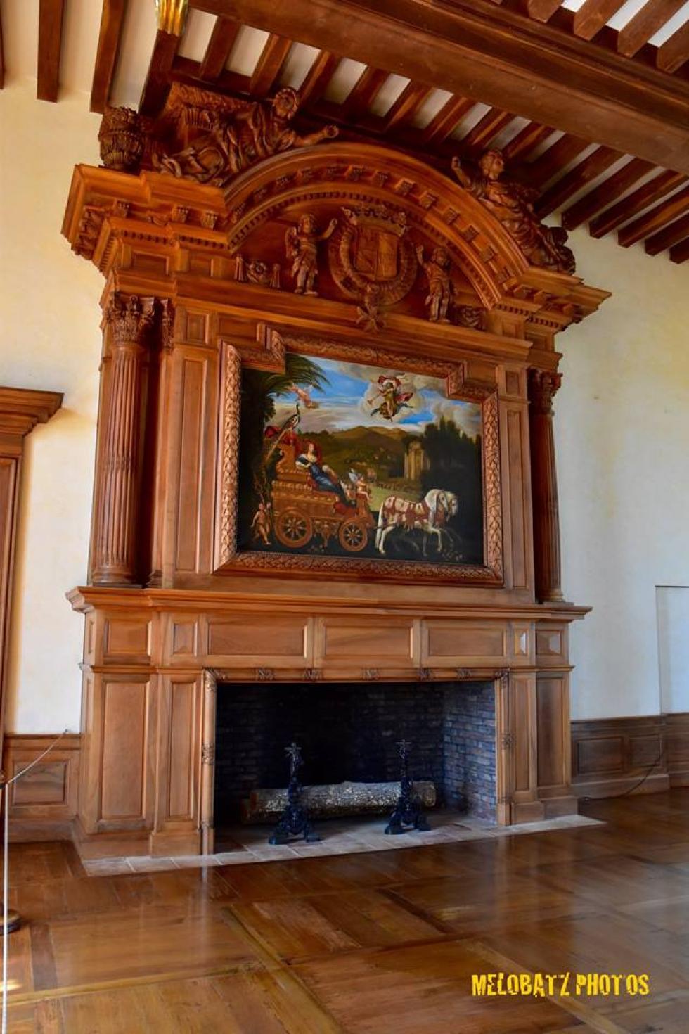 Au château de Hautefort.