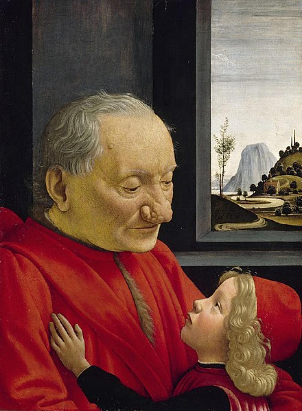 Portrait d'un vieillard et d'un jeune garçon par Domenico Ghirlandaio, vers 1490.