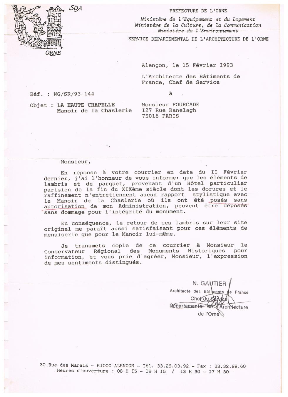 15 février 1993.