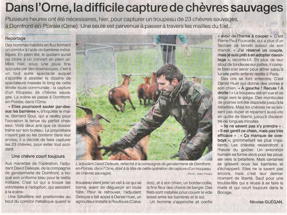 """""""Ouest-France"""" du 13 janvier 2021."""