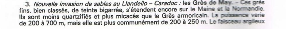 """7ème extrait de la page 14 du """"guide géologique Normandie Maine""""."""