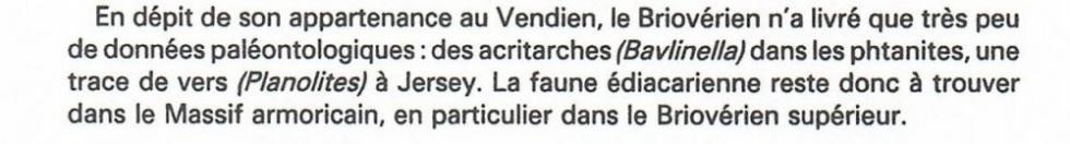 """4ème extrait de la page 11 du """"guide géologique Normandie-Maine."""