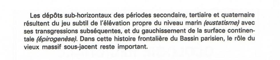 """Page 10 du """"guide géologique Normandie-Maine"""" de Francis Doré et autres."""