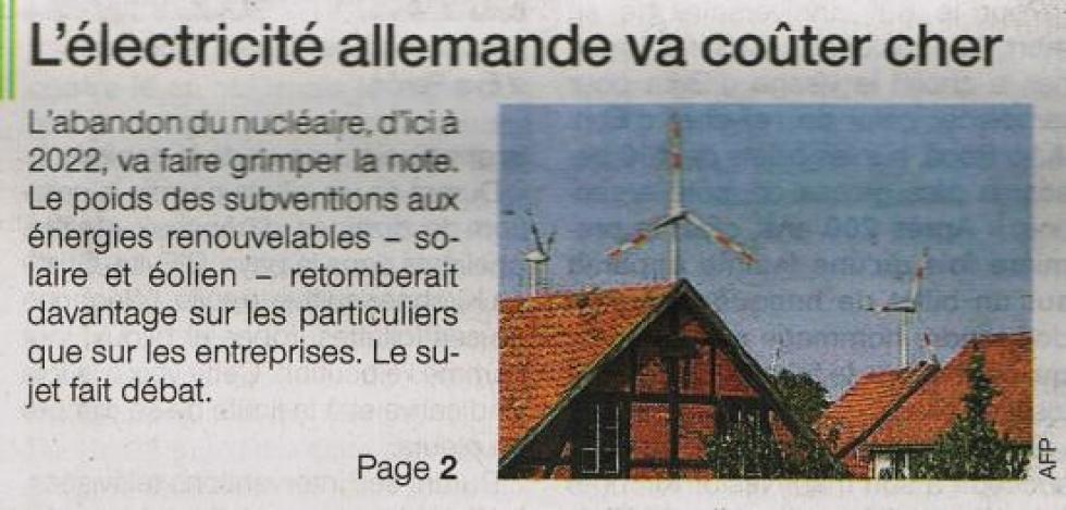"""Article paru dans """"Ouest-France"""" le 31 août 2012."""