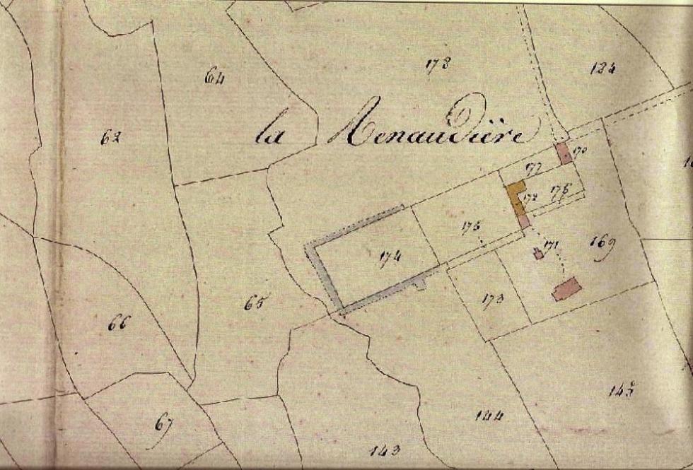 La Renaudière en 1824.