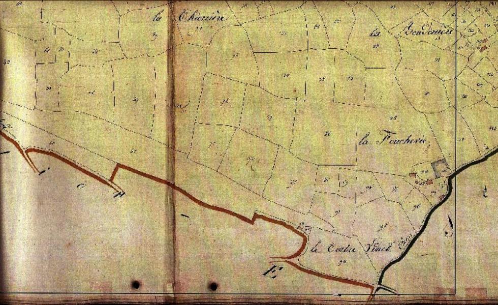 La Foucherie en 1824.