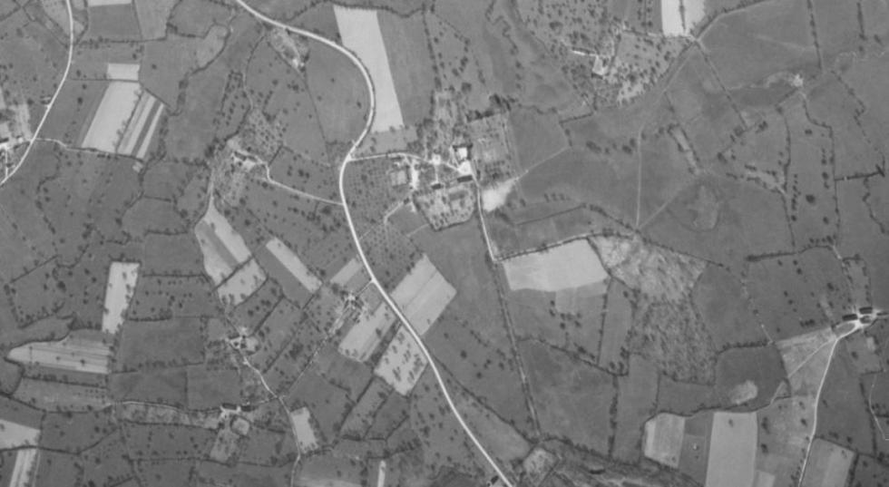 Photo aérienne de la Chaslerie, datée de 1955.