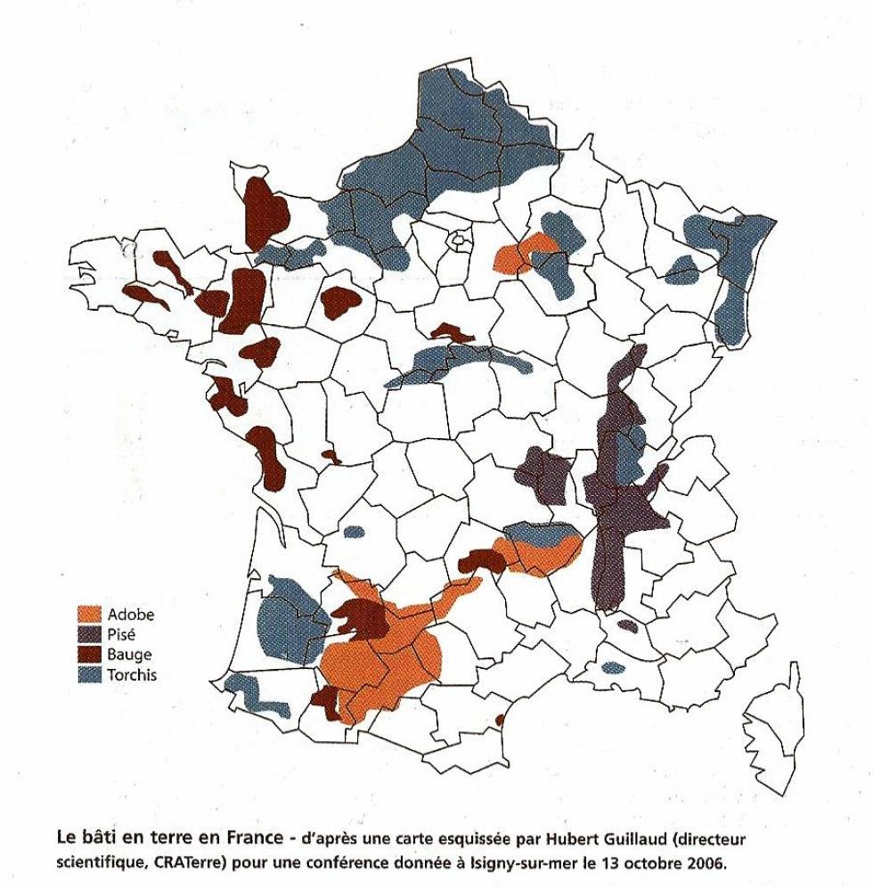 Le bâti en terre en France.
