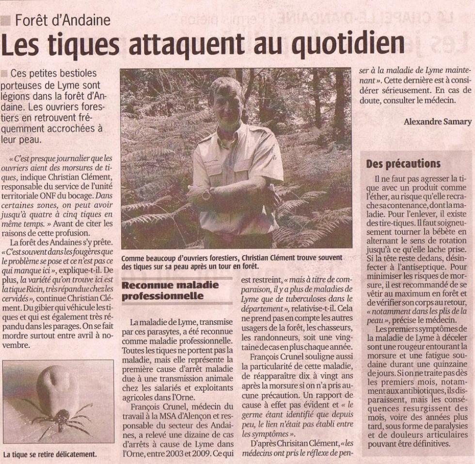 """Article paru dans le numéro du 30 juin 2011 du """"Publicateur Libre."""