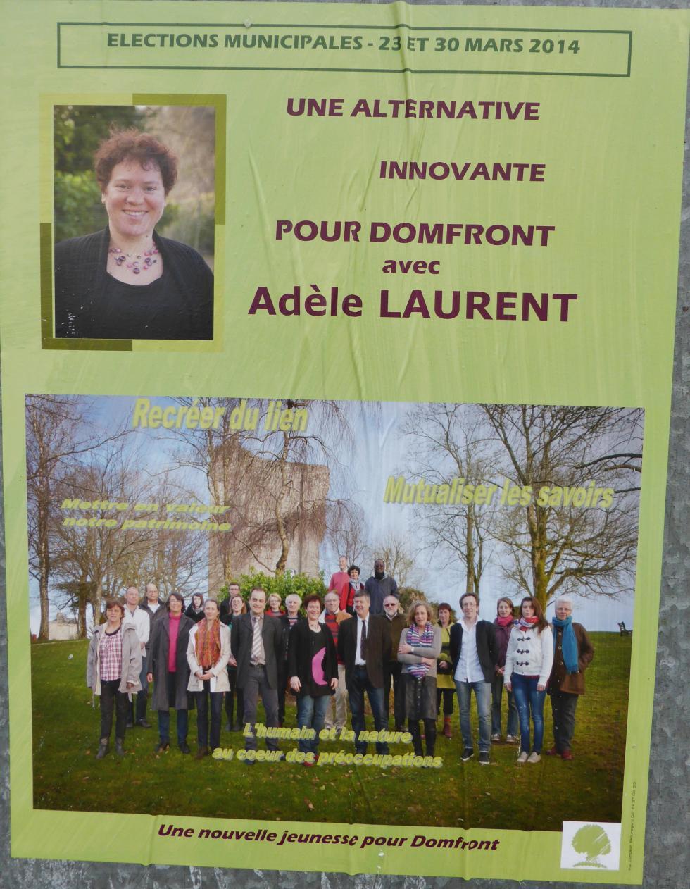 L'affiche électorale de la candidate Adèle LAURENT.