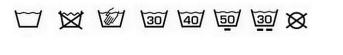 symboles machine à laver
