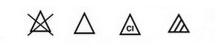 symboles blanchiment ménage