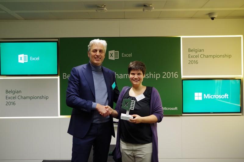Steven Stokmans COO Microsoft Belux and Belgian Excel Champion Joke Vrancken