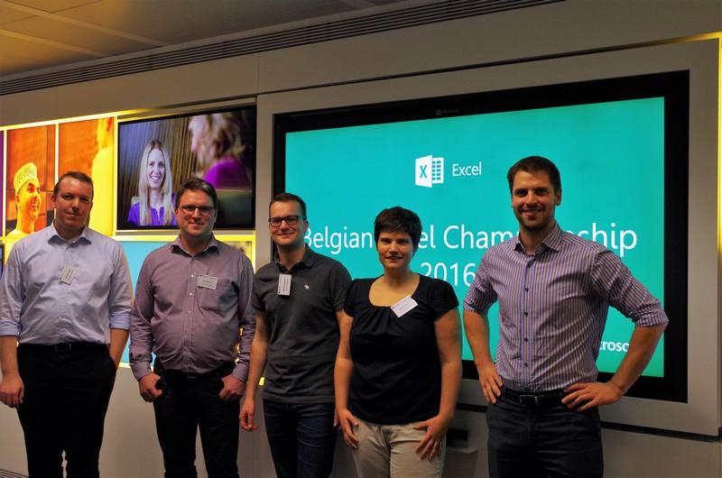 From left to right: Nicolaas Vlieghe, Dave Maenen, Martijn Huysmans, Joke Vrancken, Arnaud Decoux