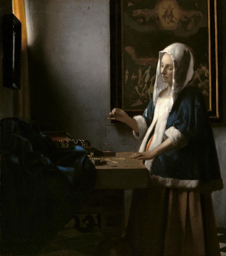 Johannes Vermeer (1632 to 1675) Woman With a Balance c.1664 National Gallery of Art Washington doc (002)