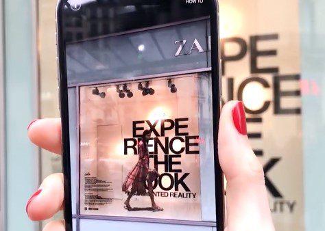 Zara a employé cette technologie en avril pour braquer tous les projecteurs sur sa nouvelle collection de vêtements.