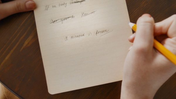 Gerety Handwritten Slogan Close up