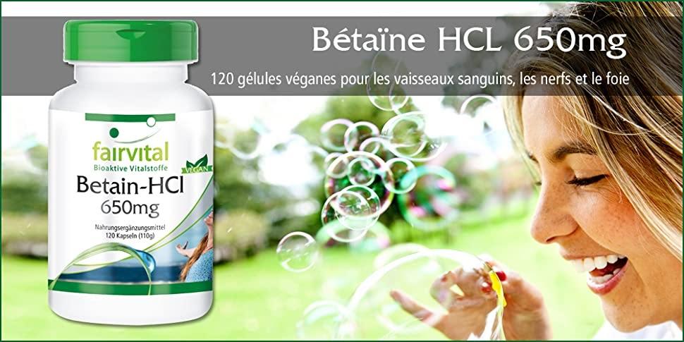 bétaïne HCL