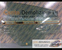 Vetro scendente posteriore Sinistro FORD Fiesta 6° Serie