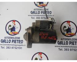 MOTORINO D' AVVIAMENTO PEUGEOT 206 1° Serie 1400 Benzina  (1999) RICAMBI USATI