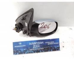 Elettrico SPECCHIETTO RETROVISORE DESTRO PEUGEOT 206 2° Serie Benzina  (2005) RICAMBI USATI