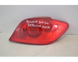 Stop fanale posteriore Destro Passeggero PEUGEOT 307 Berlina 2° Serie