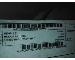 Alzavetro manuale post SX GUIDA RENAULT Modus 1° Serie