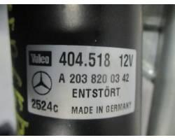 Motorino tergi ant completo di tandem MERCEDES Classe C Berlina W203 2° Serie